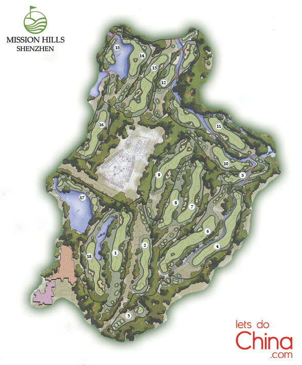 Els Course Map at Mission Hills Shenzhen