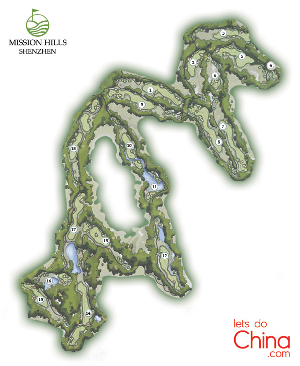 Norman Course Map at Mission Hills Shenzhen