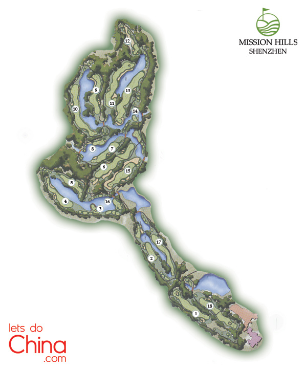 Vijay Course Map at Mission Hills Shenzhen